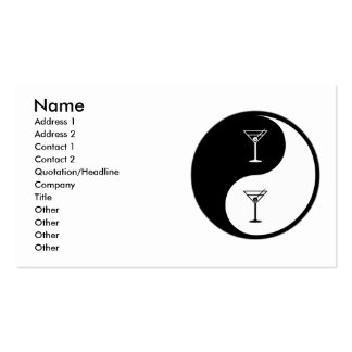 Yin Yang Bartending Double-Sided Standard Business Cards (Pack Of 100)