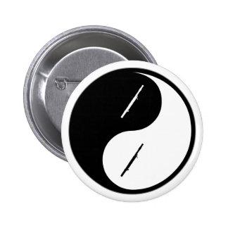 Yin Yang Bassoon Pins