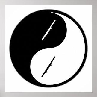 Yin Yang Bassoon Poster