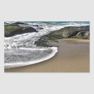 Yin Yang Beach Rectangular Sticker