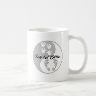 yin yang bearded collie coffee mug