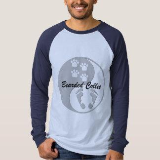 yin yang bearded collie t-shirt