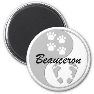 yin yang Beauceron Magnet