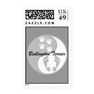 yin yang Bedlington Terrier Postage Stamps
