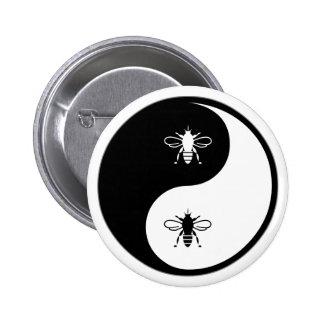 Yin Yang Bee Button