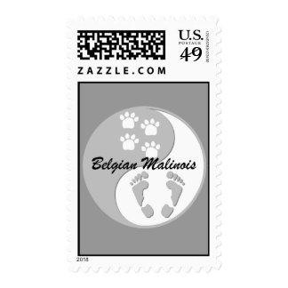 yin yang Belgian Malinois Stamps