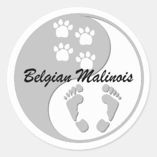 yin yang Belgian Malinois Sticker