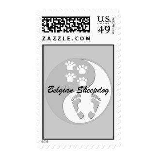 yin yang Belgian Sheepdog Postage