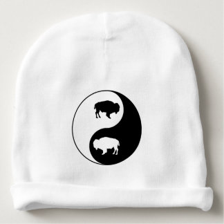 Yin Yang Bison Baby Beanie