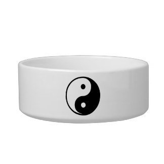 Yin Yang Black and White Illustration Template Bowl