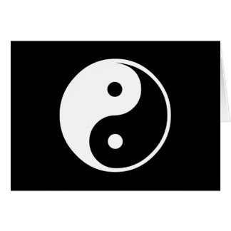 Yin Yang Black and White Illustration Template Card