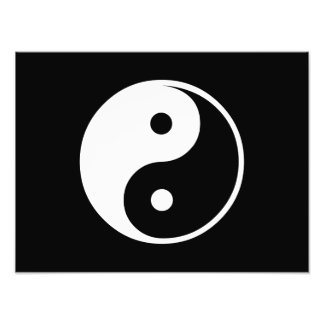 Yin Yang Black and White Illustration Template Art Photo