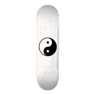 Yin Yang Black and White Illustration Template Skateboard