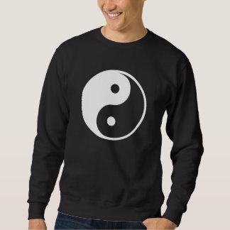 Yin Yang Black and White IllustrationTemplate Sweatshirt