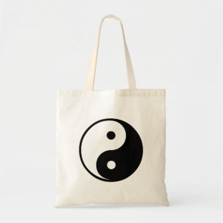 Yin Yang Black and White IllustrationTemplate Tote Bag