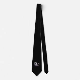 Yin yang black and white neck tie
