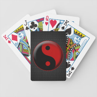 YIN YANG BLACK RED 3D BICYCLE PLAYING CARDS