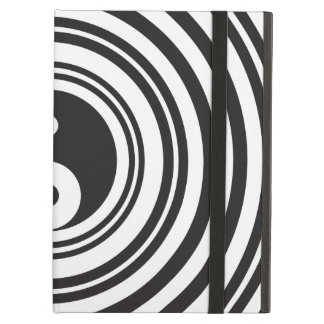 Yin Yang Black White Concentric Circles Pattern Cover For iPad Air