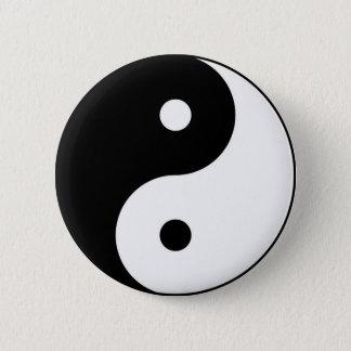 yin yang black white symbol pinback button