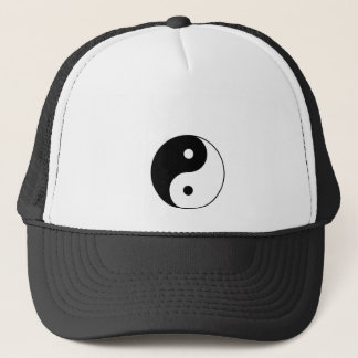yin yang black white symbol trucker hat