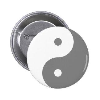 Yin Yang - blanco Pin Redondo De 2 Pulgadas