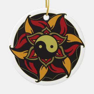 Yin Yang Blooming Lotus Ornament