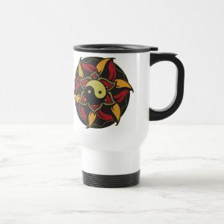 Yin Yang Blooming Lotus Travel Mug