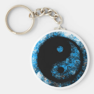 Yin Yang Blue Black The MUSEUM Zazzle Gifts Keychains