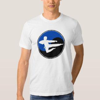 Yin Yang Blue Karate GUY 1 T Shirt