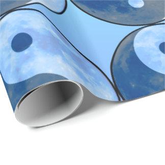 Yin Yang Blue Moon Wrapping Paper