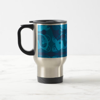 Yin Yang Blue Travel Mug