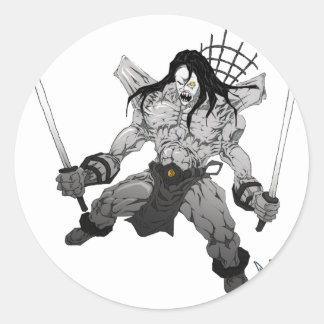 Yin Yang Boogieman Classic Round Sticker