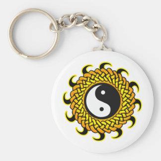 Yin Yang Braided Sun Keychain