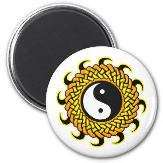 Yin Yang Braided Sun Magnet