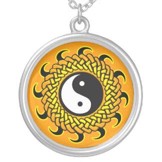 Yin Yang Braided Sun Necklace