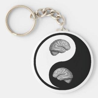 Yin/Yang Brain Basic Round Button Keychain