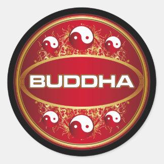 Yin Yang Buddha Round Logo Classic Round Sticker