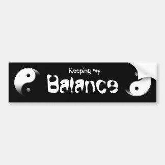 Yin Yang Car Bumper Sticker
