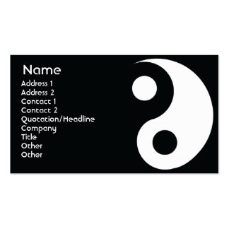 Yin Yang - Business Double-Sided Standard Business Cards (Pack Of 100)