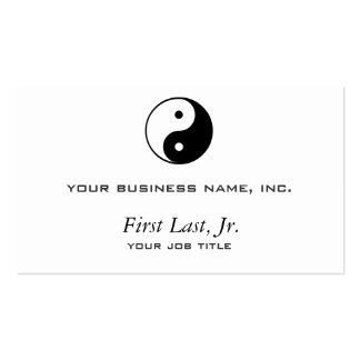Yin Yang Business Card