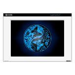 "Yin Yang Butterflies, blue & black Decals For 15"" Laptops"
