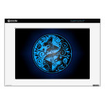 "Yin Yang Butterflies, blue & black Decals For 15"" Laptops"