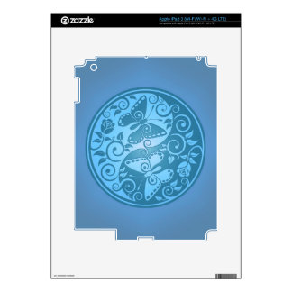 Yin Yang Butterflies, blue iPad 3 Skin
