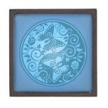 Yin Yang Butterflies, blue Premium Gift Box