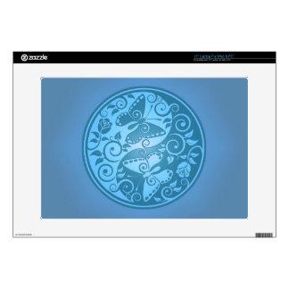 Yin Yang Butterflies, blue Skin For Laptop