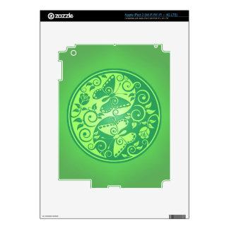 Yin Yang Butterflies, green iPad 3 Skin