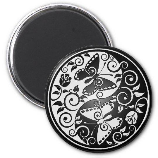 Yin Yang Butterflies Magnet