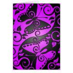 Yin Yang Butterflies, purple & black Greeting Cards