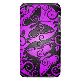 Yin Yang Butterflies, purple & black iPod Case-Mate Case
