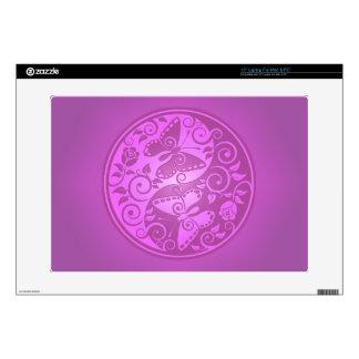Yin Yang Butterflies, purple Laptop Skin